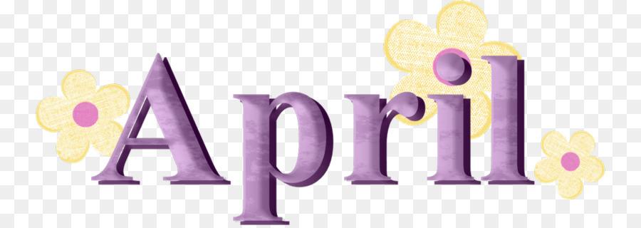 april clipart text