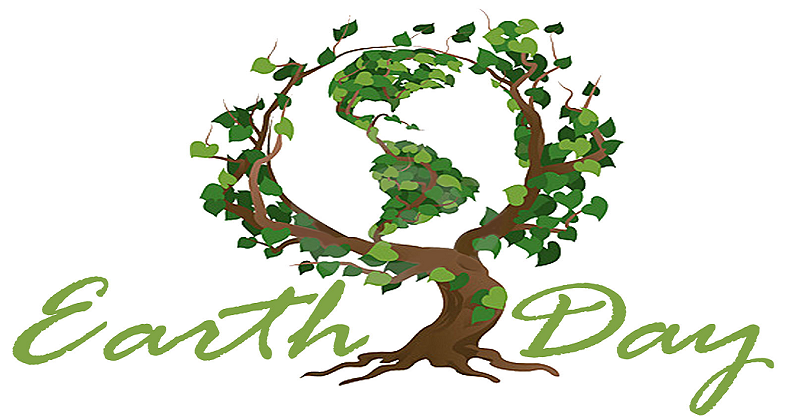 Earth day plant a. April clipart tree