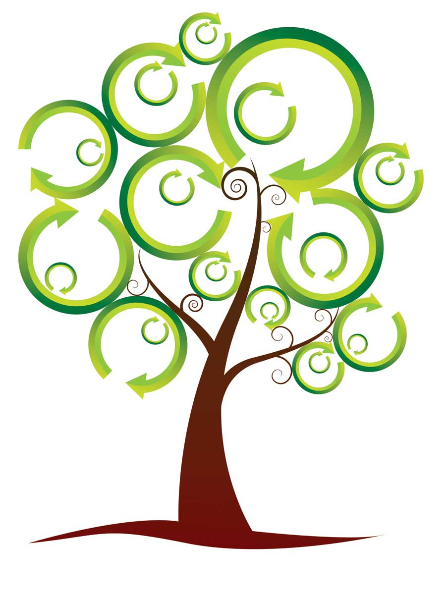The csi project page. April clipart tree