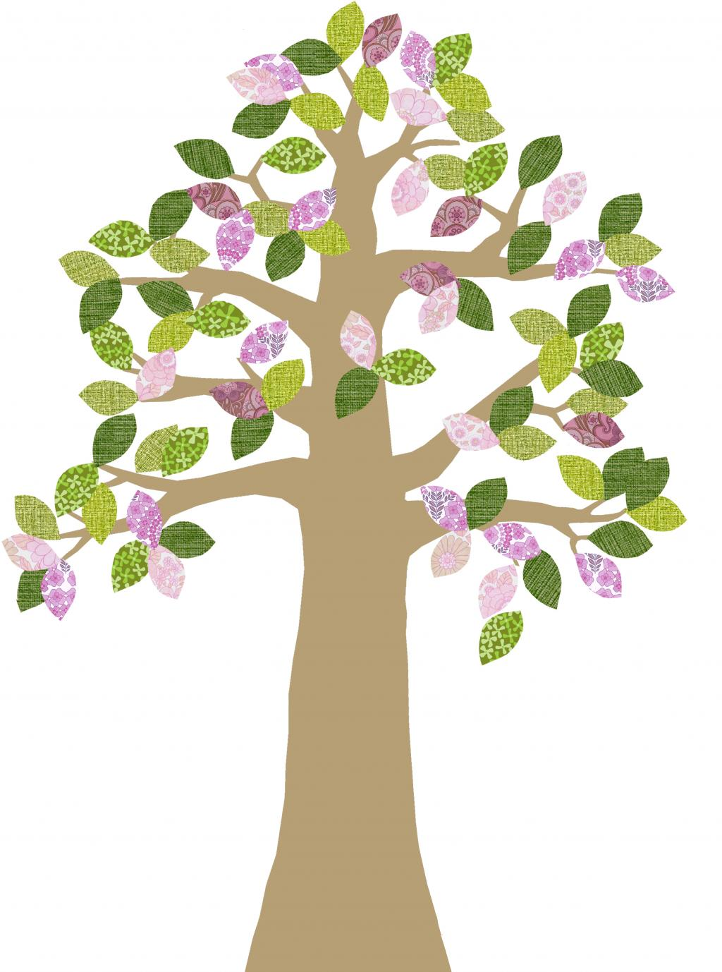 Wallpaper decal golden trunk. April clipart tree
