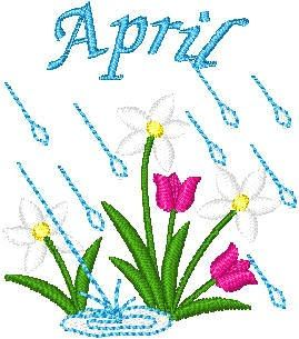 April clipart tulip. Spring showers clip art