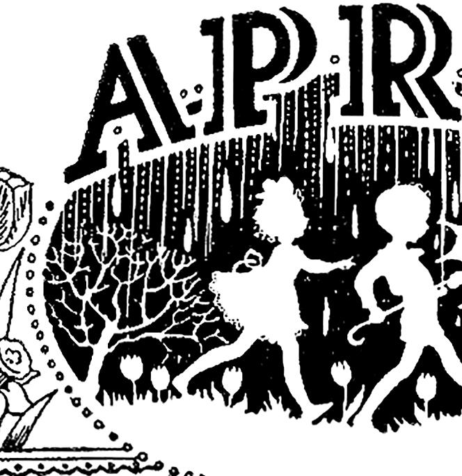 Image the graphics fairy. April clipart vintage