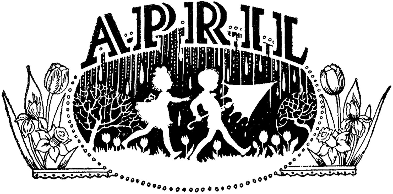 April clipart vintage. Image the graphics fairy
