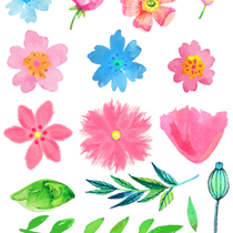 April clipart watercolor. Free flower pretty things
