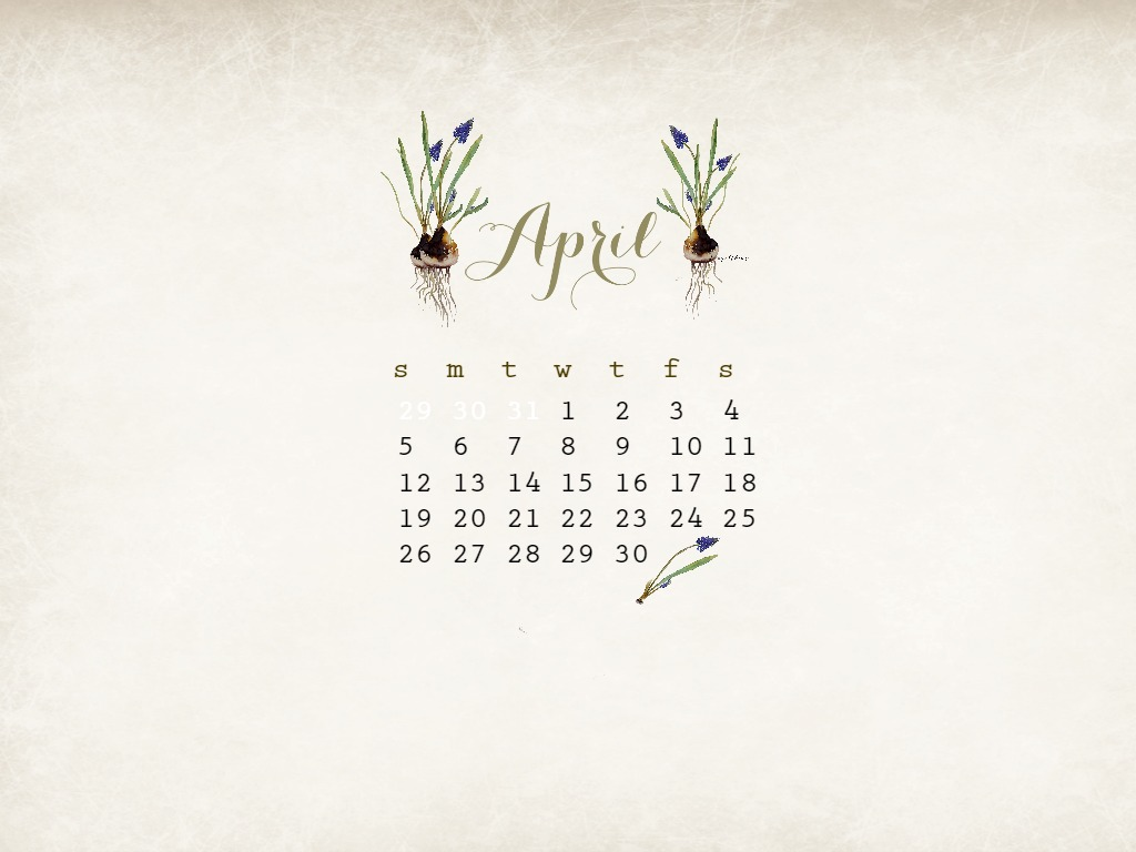 April clipart watercolor. Free desktop calendar