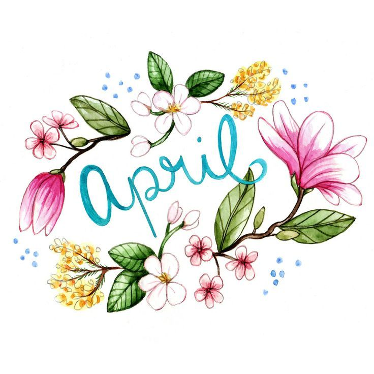 best images on. April clipart watercolor
