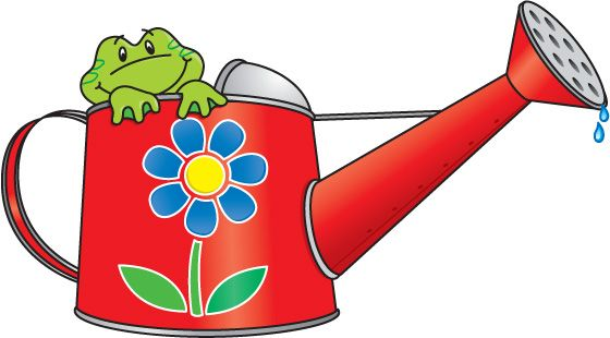 April clipart watering can.  best gardens images