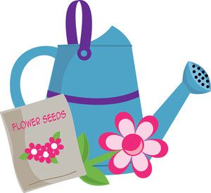 Blue clipart watering can. Clip art gardening image