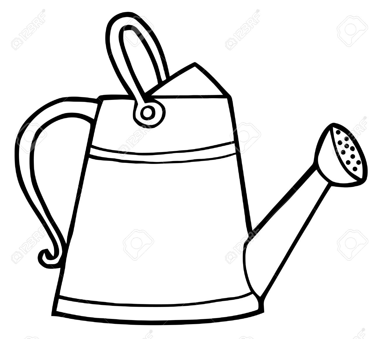 Drawing at getdrawings com. April clipart watering can