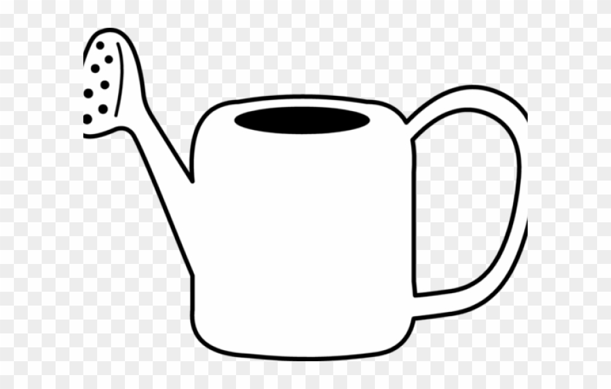 Coloring page . April clipart watering can