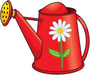 April clipart watering can. Spring clip art holidays