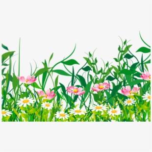 Ground grass flower green. April clipart wildflower
