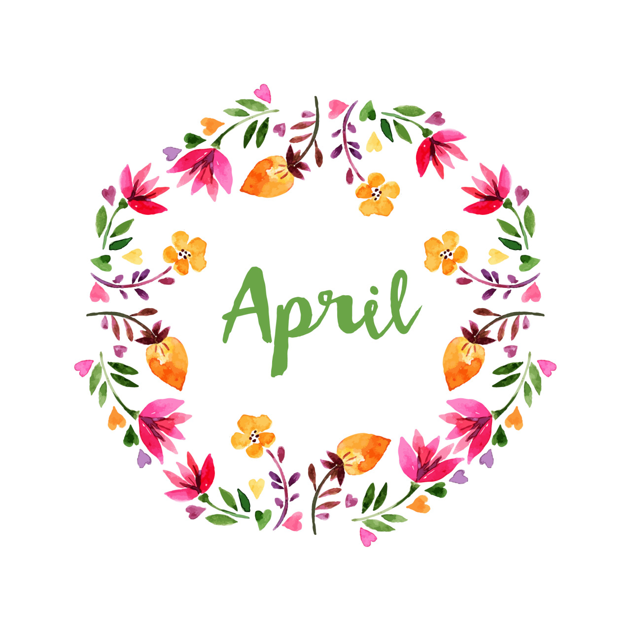 Welcome tumblr status . April clipart wildflower