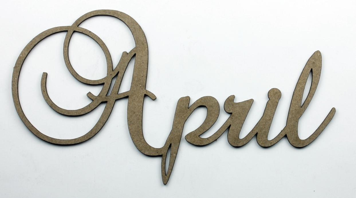 april clipart word