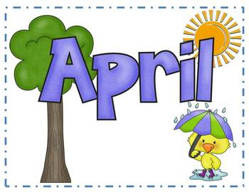 Words by sarah hankinson. April clipart word