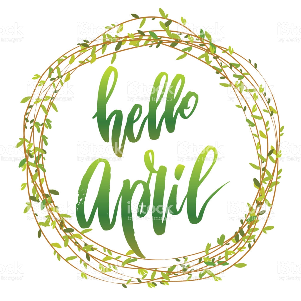 April clipart word. Hello images free may