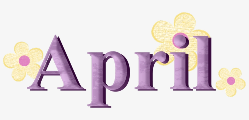 Jpg transparent download clip. April clipart word