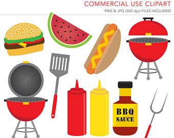 Summer bbq vector doodle. Apron clipart barbecue