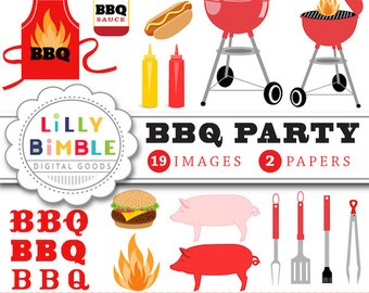 Apron clipart barbecue. Cheeseburger etsy party gingham