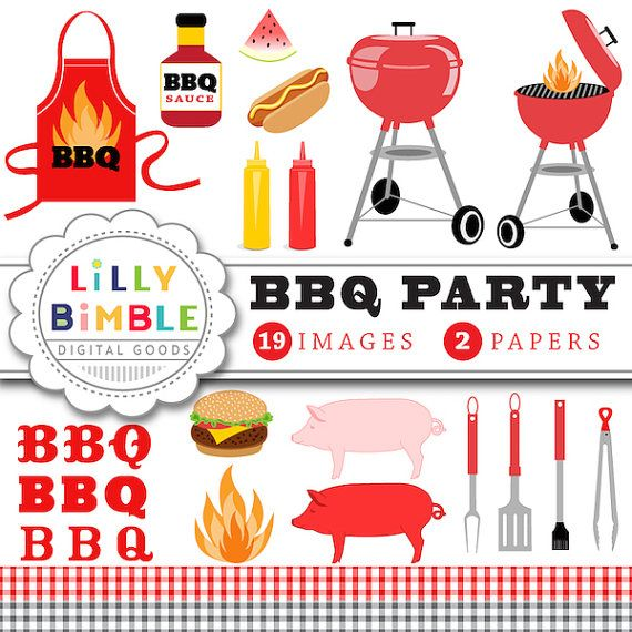 off party gingham. Apron clipart barbecue