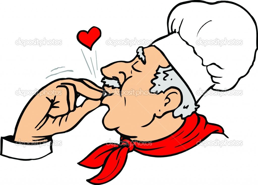 Chef clipart executive chef. Fat cartoon italian food