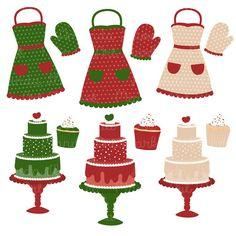 Apron clipart christmas. Clip art pretty aprons