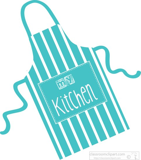 Apron clipart culinary. Blue style my kitchen
