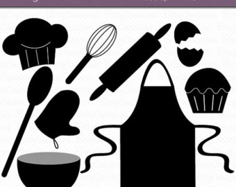 Cooking clip art kitchen. Baking clipart silhouette