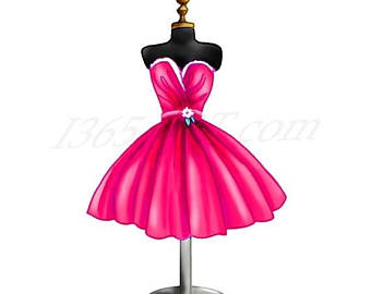 Beautiful clipart evening gown.  off cute house