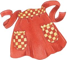 Apron clipart half apron. Vintage free clip art