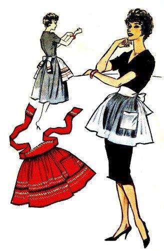 best sewing images. Apron clipart half apron