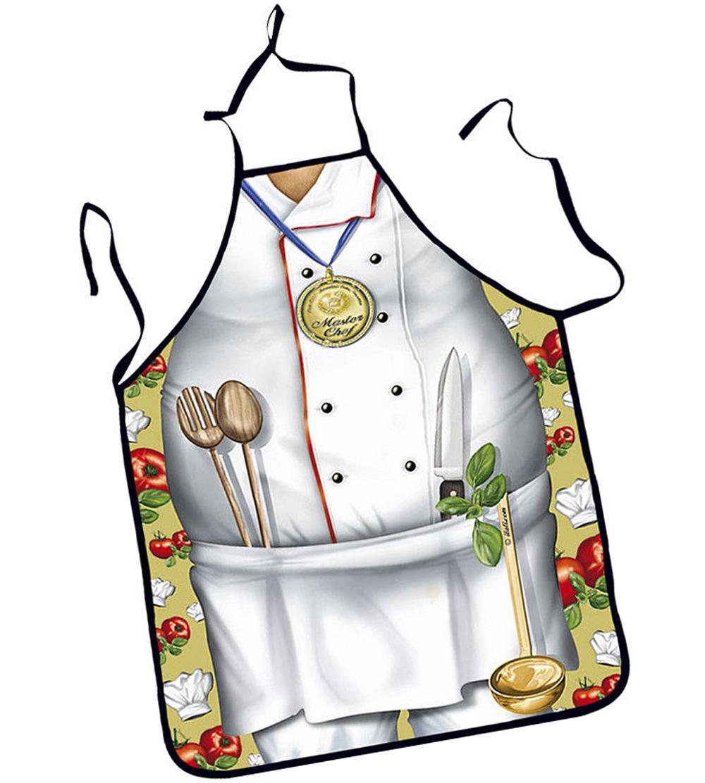 Apron clipart kitchen uniform. Women men waterproof cook