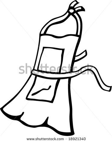 Apron clipart outline.  collection of black