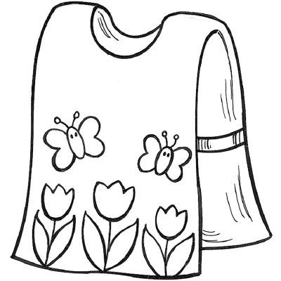 Sewing crafts art . Apron clipart paint smock