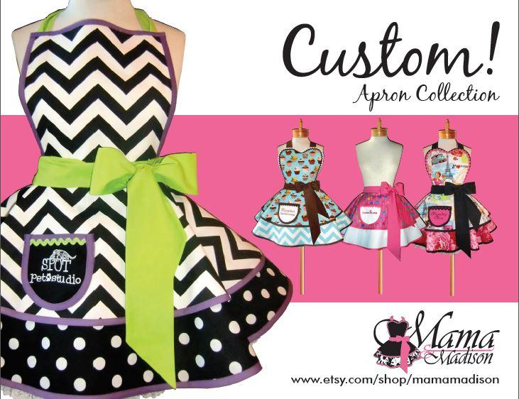 Custom giveaway and promo. Apron clipart promotional