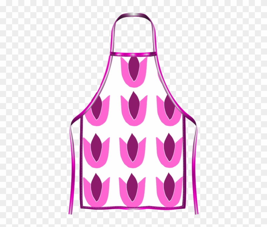 Tulip pink pinclipart . Apron clipart purple apron