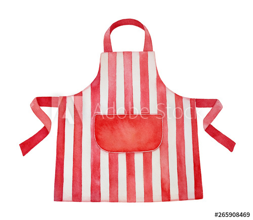 Apron clipart striped. Red and white kitchen