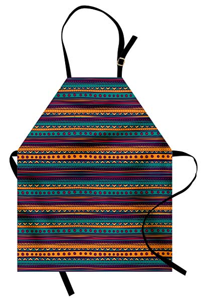 Ambesonne tribal retro aztec. Apron clipart striped