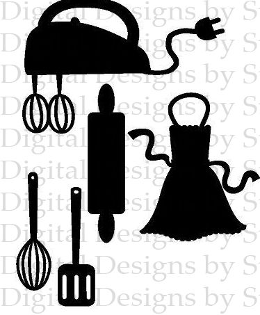 best svg files. Baking clipart silhouette