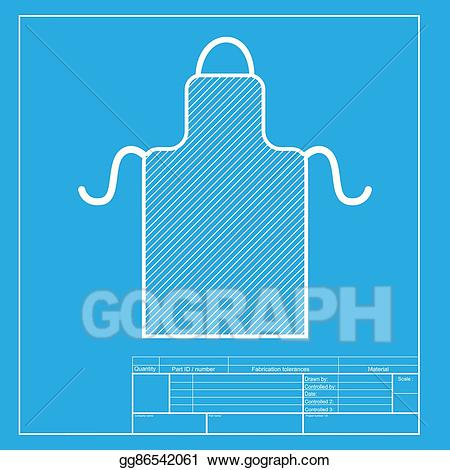Vector illustration simple sign. Apron clipart template