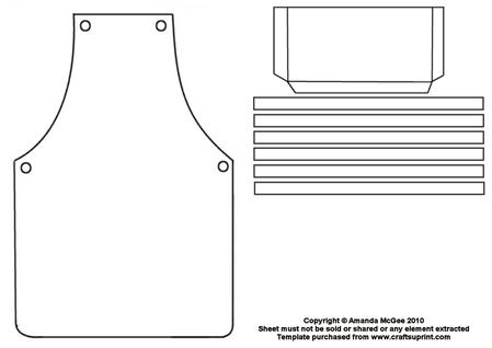Cup craftsuprint . Apron clipart template