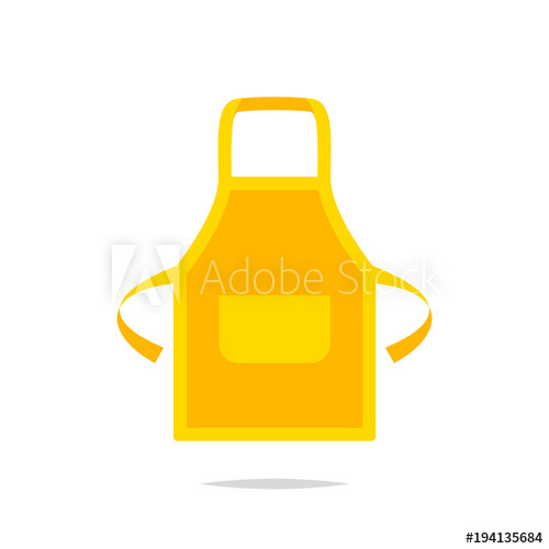 Isolated buy this stock. Apron clipart vector
