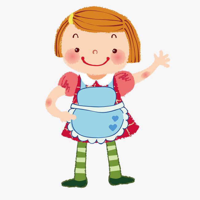 Girl cartoon png and. Apron clipart vector