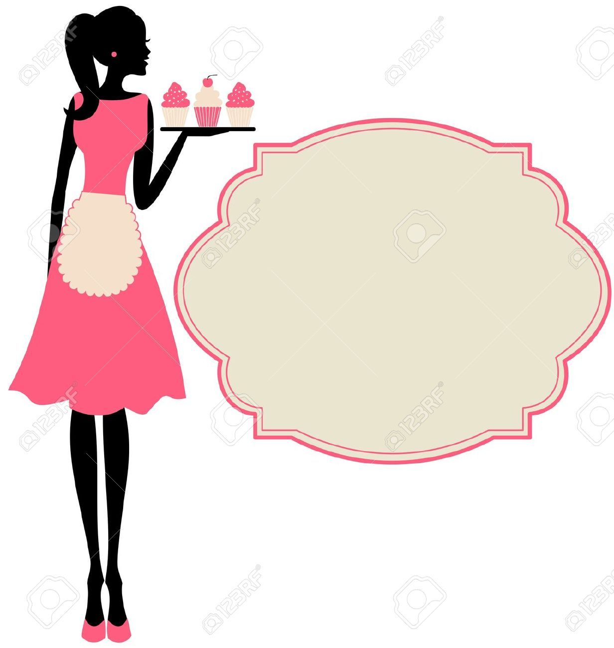 Woman cliparts stock and. Apron clipart vector