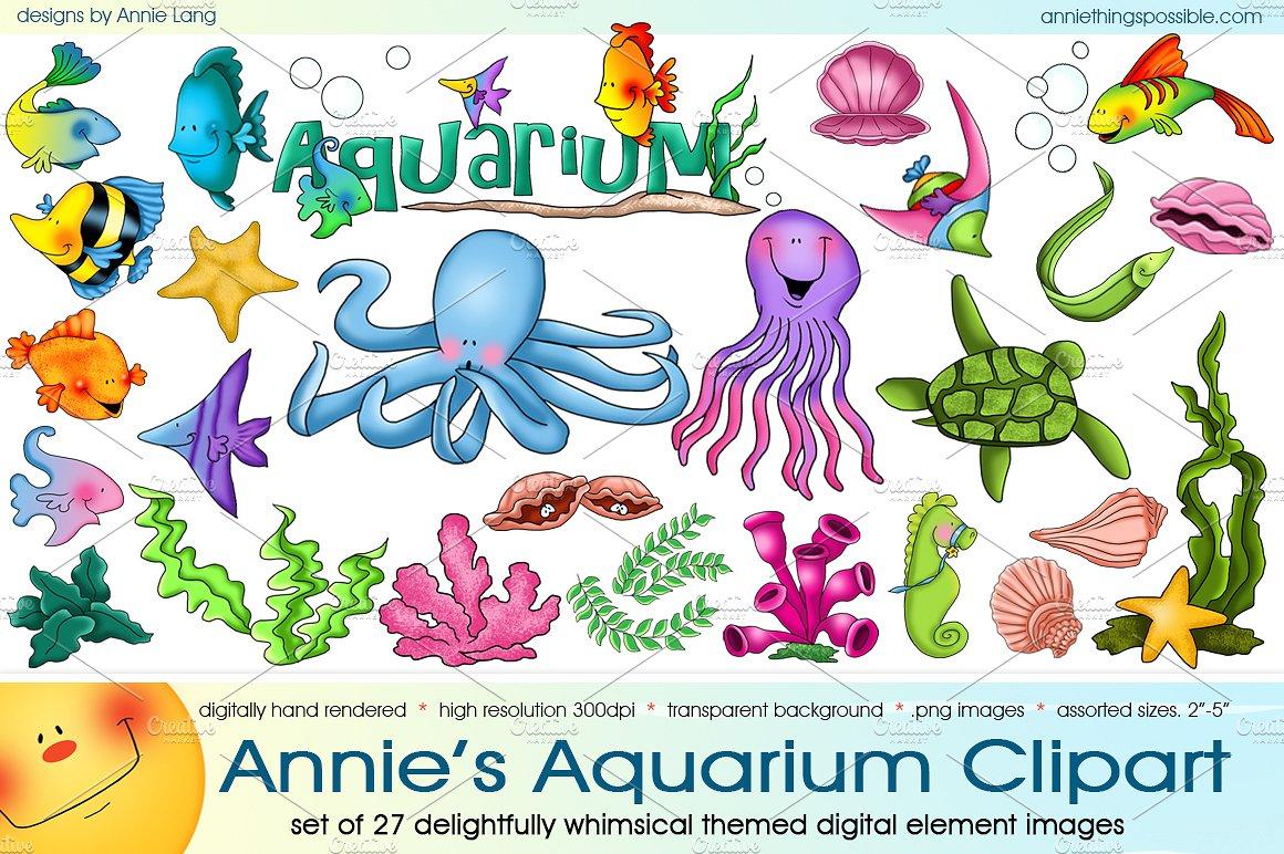 Annie s illustrations creative. Aquarium clipart