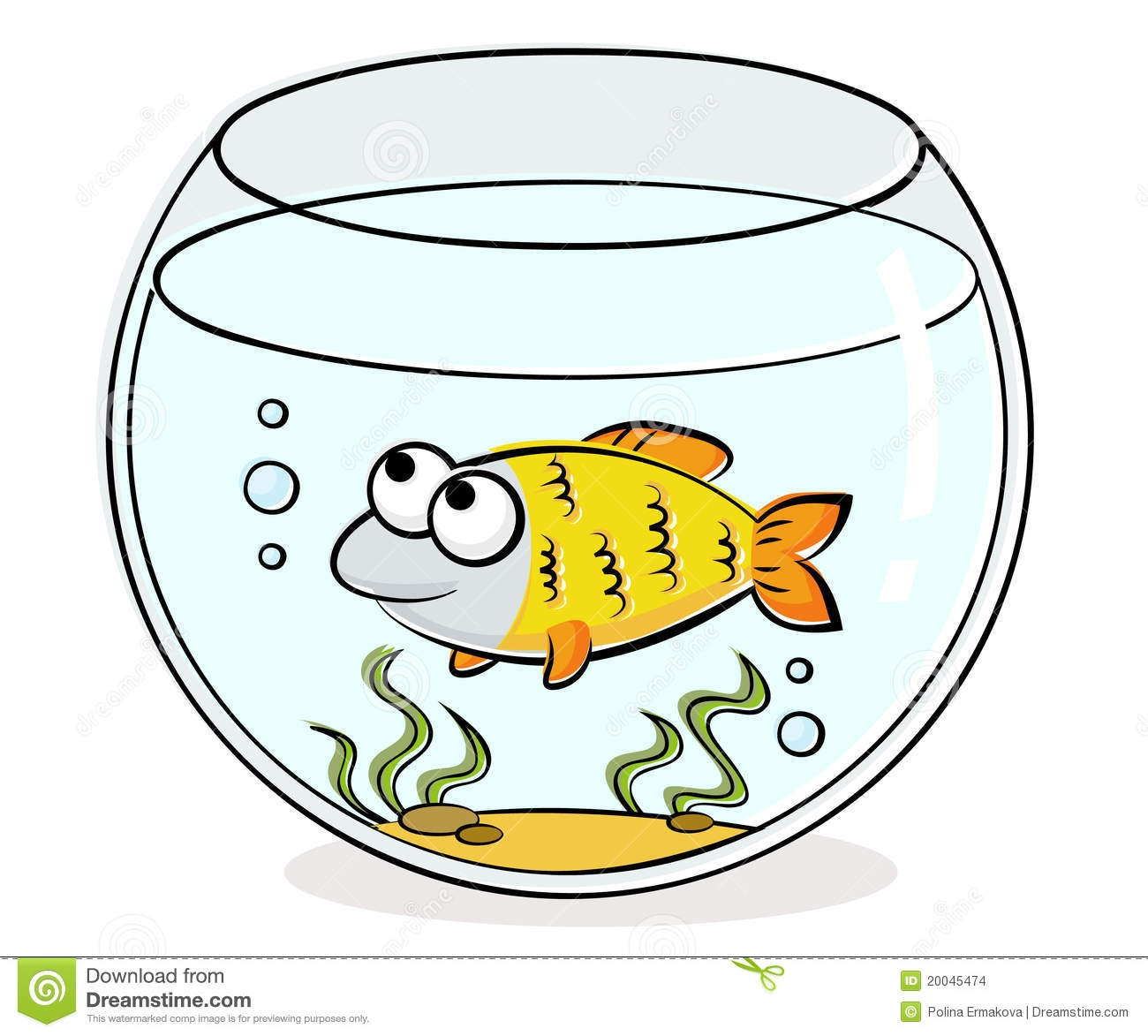 Bowl clipart aquarium. Awesome fish cartoon images