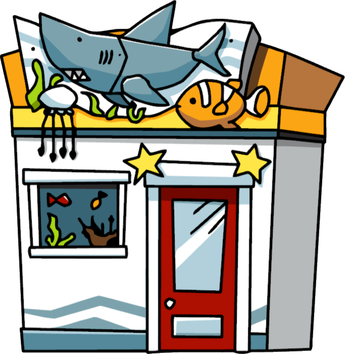 Scribblenauts wiki fandom powered. Aquarium clipart aquarium building