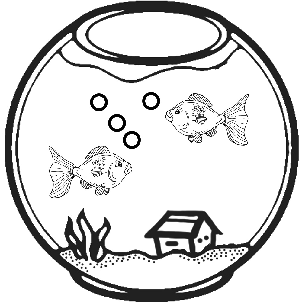 Station . Aquarium clipart black and white