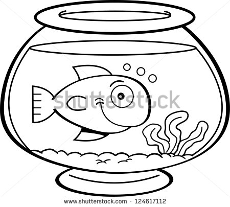 Fish drawing at getdrawings. Aquarium clipart black and white