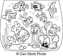 Aquarium clipart black and white. Station